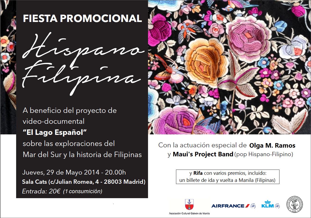fiesta hispano-filipina 29 mayo 1precio