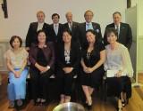 Miembros de la Junta Directiva de ACGM con la Consul de Filipinas Dña Celia Anna M. Feria, D. Federico Sánchez Aguilar y D. Luis María Ansón